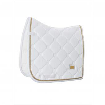 Equestrian Stockholm Schabracke White Perfection Gold