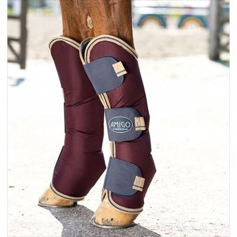 Horseware Transportgamaschen Amigo Ripstop Travel Boots Warmblut | bordeaux