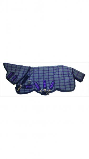 Horseware Outdoordecke Rhino Plus Turnout Heavy 1,40 m | charcoal/light purple
